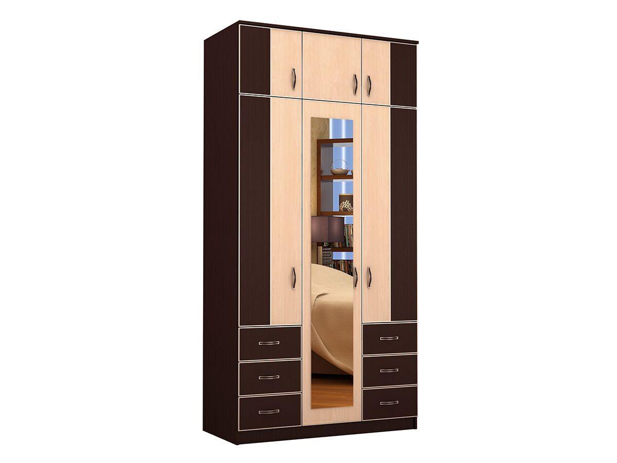 Шкаф трехстворчатый 1050х350х2000 лдсп с распашными дверьми.