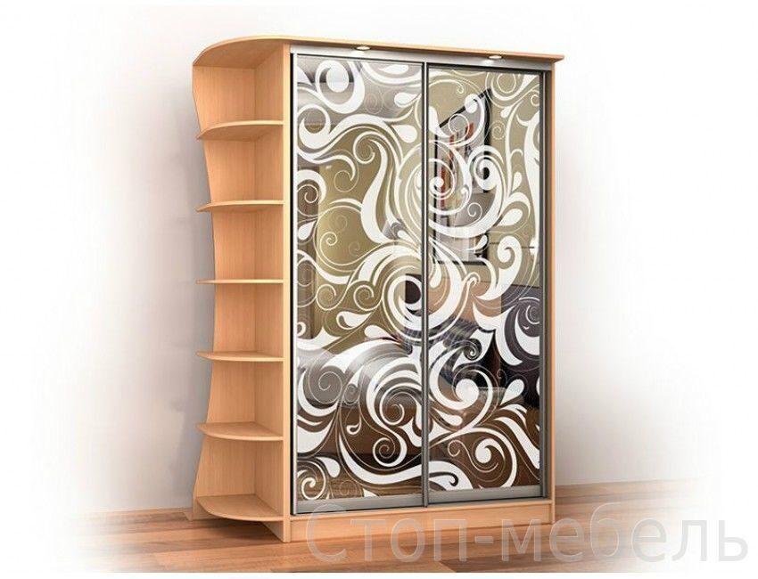 Шкафы двустворчатые с рисунком